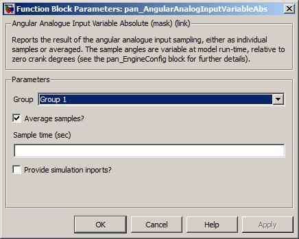 6 8 3  Analogue input — angular, variable absolute angle